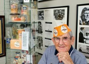 Emmett among his collection in the Andy Griffith Museum. Photo by Hobart Jones.