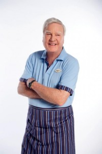 James Best in wardrobe for The Sweeter Side of Life.