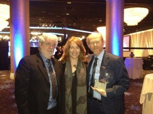Ron Howard tweeted this photo of himself with wife Cheryl and George Lucas at the TV Hall of Fame ceremony. (By the way, Ron is a fun choice to follow on Twitter. Look for him at @RealRonHoward.)