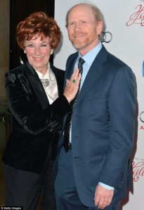 "Ron Howard and his ""Happy Days"" mom, Marion Ross, reunited at the TV Hall of Fame ceremony."