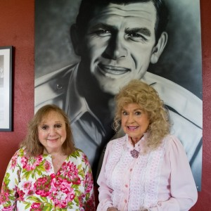 Betty Lynn and Donna Douglas at the Andy Griffith Museum.  Photo by Hobart Jones.