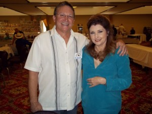 TAGSRWC member Phil Barnard with Morgan Brittany at the Western Film Fair.