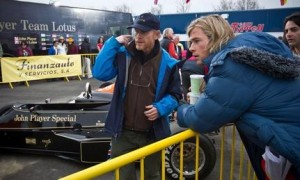 Ron Howard on location for Rush, with star Chris Hemsworth.