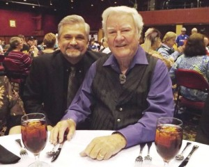James Best on his 87th birthday at July Memphis Film Festival in Tunica, Miss., with longtime TAGSRWC member Terry Pace.