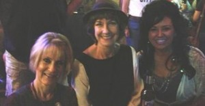 Karen Knotts (center) celebrating John Lennon's birthday at Enoch's Irish Pub & Cafe in Monroe, La., during a day off from her Louisiana tour.