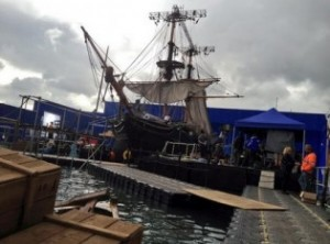 This is shot Ron Howard tweeted from the set of In the Heart of the Sea, filming in London now.