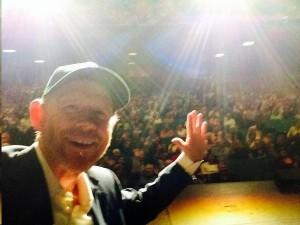 Ron Howard tweeted this selfie while on stage at the Distinguished Speakers series in Pasadena.