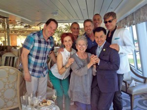 Jackie Joseph, front and center on the Doris Day cruise.  You can follow the link to her enthusiastic account.