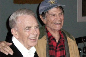 F TROOP BUDDIES–Kenny Berry (left) and Larry Storch.