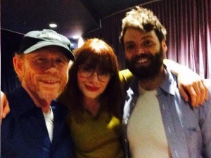 Ron Howard tweeted this photo in August with daughter Bryce and son-in-law Seth at a screening of an early cut of Ron's In the Heart of the Sea. Follow Ron on Twitter @RealRonHoward.