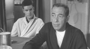 "Jimmie with Bogey in ""The Caine Mutiny."""
