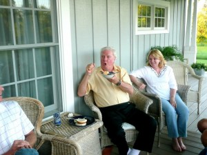 Jimmie and Dorothy at the Taylor Home Inn in Clear Lake, Wisc.