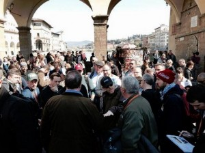 "FIND RON--Ron Howard on the ground in Florence this week while working on technical plans for ""Inferno."""