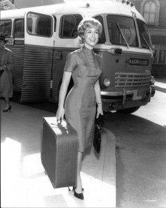 Barbara Eden on her way to Mayberry Days!