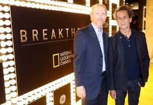 TWO FOR THE AGES--Ron Howard with Brian Grazer.