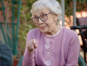 "Ann Morgan Guilbert as GiGi in an episode of ""Life in Pieces"" that aired on CBS in March."