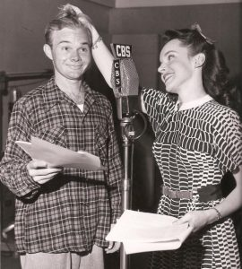 "HERE'S WALDO--Janet with Sam Edwards (Sam Muggins, Lester Scobey in Mayberry), as Corliss Archer and boyfriend Dexter Franklin in radio's ""Meet Corliss Archer."""