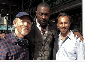 STARS ALIGN--Ron Howard tweeted this photo on the set for Stephen King's Dark Tower in New York City in July with actor Idris Elba and director Nikolaj Arcel. Follow Ron on Twitter @RealRonHoward.