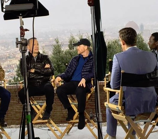 YOUR OPE IN EUROPE--Tom Hanks and Ron Howard in Florence earlier this month as part of their publicity tour for Inferno.